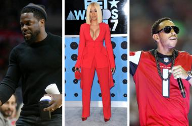 Comedian Kevin Hart, Rapper Cardi B, Rapper Ludacris