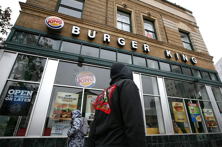 Burger King (Photo credit: Justin Sullivan/Getty Images)