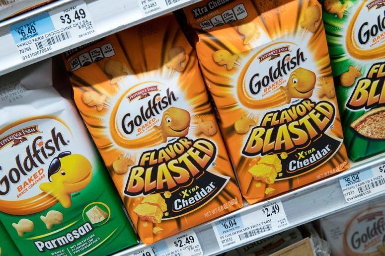 Pepperidge Farm Goldfish Flavor Blasted Xtra Cheddar