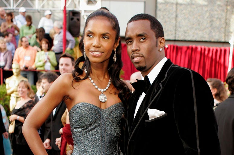 """In a Feb. 27, 2005 file photo, Sean """"P. Diddy"""" Combs arrives with date, Kim Porter, for the 77th Academy Awards in Los Angeles. Sean """"Diddy"""" Combs on Sunday, Nov. 18, 2018 is making his first public statements since the loss of longtime former girlfriend"""