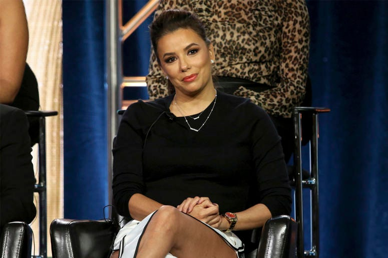 "Eva Longoria participates in the ""Grand Hotel"" panel during the ABC presentation at the Television Critics Association Winter Press Tour at The Langham Huntington on Tuesday, Feb. 5, 2019, in Pasadena, Calif. (Photo by Willy Sanjuan/Invision/AP)"