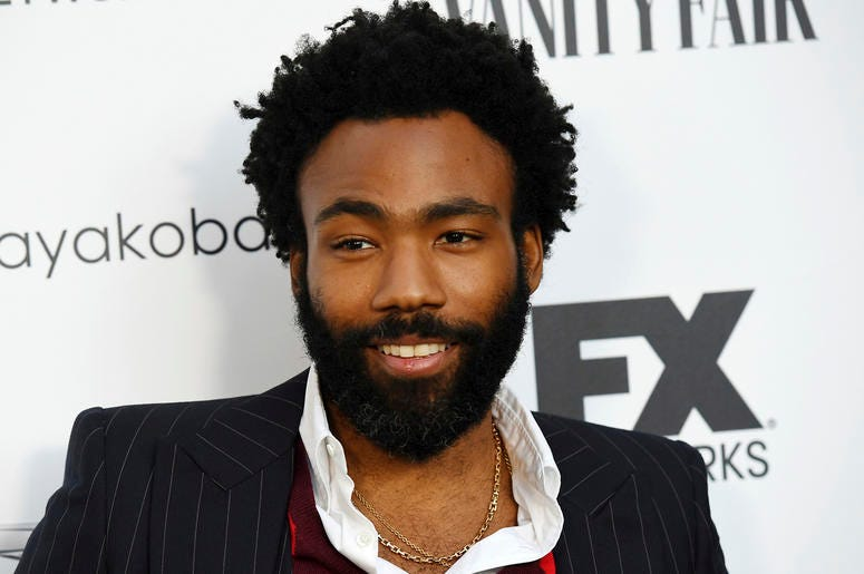 """In this Sept. 16, 2018 file photo, Donald Glover, creator and star of the FX series """"Atlanta,"""" and a musician who performs under the name Childish Gambino, poses at a private cocktail party to celebrate the FX network's Emmy nominations in Los Angeles. Gl"""
