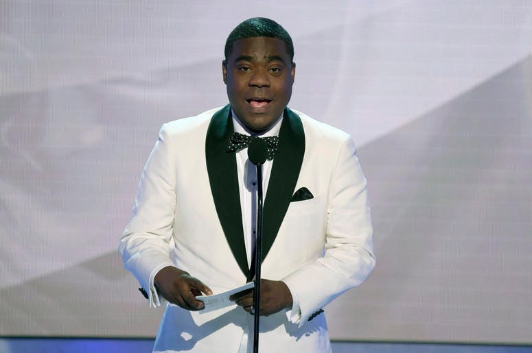 In this Jan. 27, 2019, file photo, Tracy Morgan presents the award for outstanding performance by an ensemble in a comedy series at the 25th annual Screen Actors Guild Awards in Los Angeles. (Photo by Richard Shotwell/Invision/AP, File)