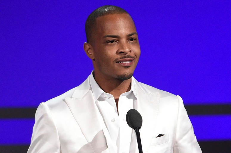 """This June 23, 2019 file photo shows Tip """"T.I."""" Harris at the BET Awards in Los Angeles. (Photo by Chris Pizzello/Invision/AP, File)"""
