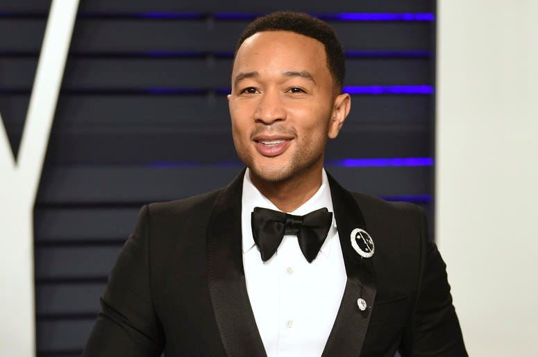 This Feb. 24, 2019 file photo shows John Legend at the Vanity Fair Oscar Party in Beverly Hills, Calif. People magazine has named Legend as the sexiest man alive in their special double issue on newsstands nationwide on Nov. 15. (Photo by Evan Agostini/In