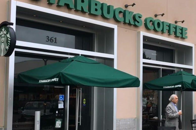Palo Alto Starbucks (Photo credit: Matt Bigler/KCBS Radio)