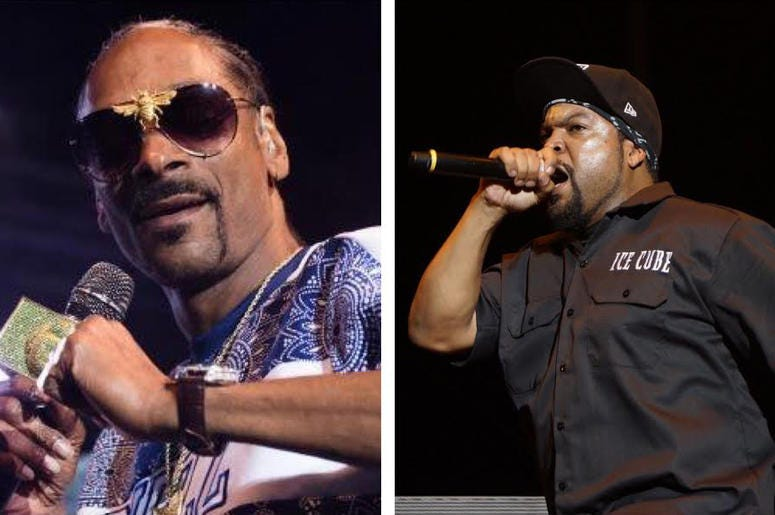 Snoop Dogg and Ice Cube (Photo credit: USA Today/Sipa USA)