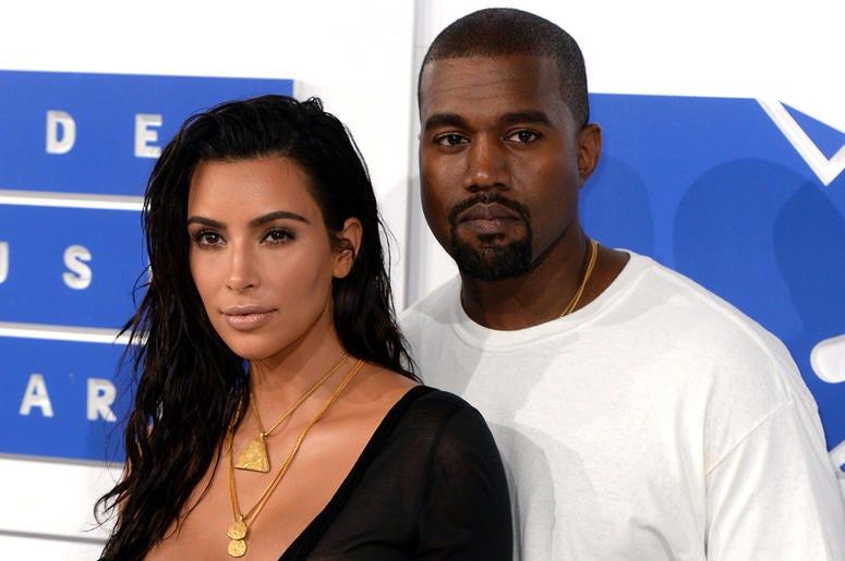 Kanye West and Kim Kardashian-West