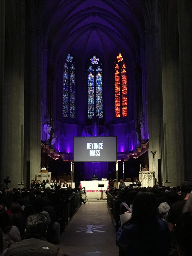 Beyoncé Mass at Grace Cathedral