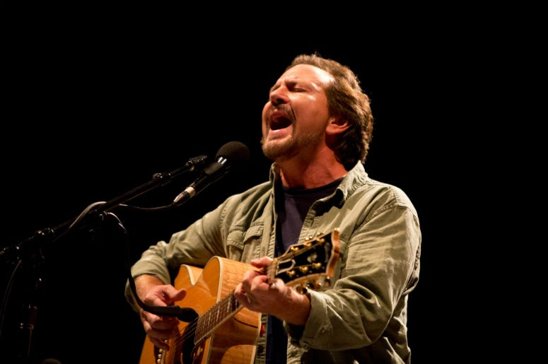 Eddie Vedder performs during the Innings Festival