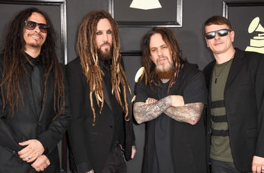 Musicians James Shaffer, Brian Welch, Reginald Arvizu, and Ray Luzier of Korn attend The 59th GRAMMY Awards at STAPLES Center on February 12, 2017 in Los Angeles, California