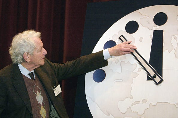 Doomsday Clock Hits 100 Seconds Until Midnight