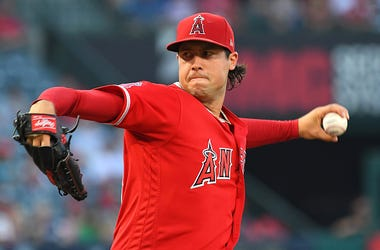 Late Angels pitcher Tyler Skaggs.