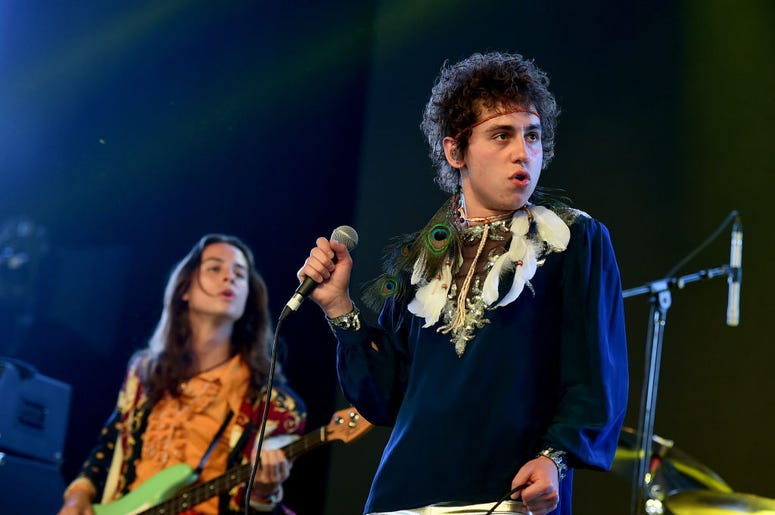 Josh Kiszka of Greta Van Fleet perform onstage