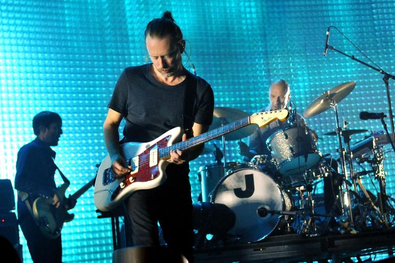 Colin Greenwood, Thom Yorke and Philip Selway of Radiohead