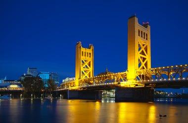 Old Sacramento Drawbridge Gold Bridge