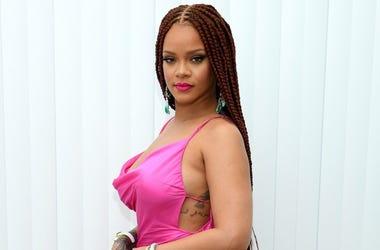 Rihanna attends the FENTY x Webster Pop-up Cocktail at The Webster