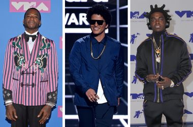 Gucci Mane and walking on the red carpet at The 2018 MTV Video Music Awards / Bruno Mars appears on the 2018 Billboard Music Awards at MGM Grand Garden Arena / Kodak Black