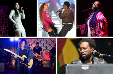 Toni Braxton at Hard Rock Live / Jay-Z and Beyonce at the 2018 Coachella Valley Music And Arts Festival / Lalah Hathaway at the Fillmore / H.E.R. (Gabi Wilson) at the BET Music Matters Grammy Showcase / PJ Morton at New Orleans Jazz & Heritage Festival