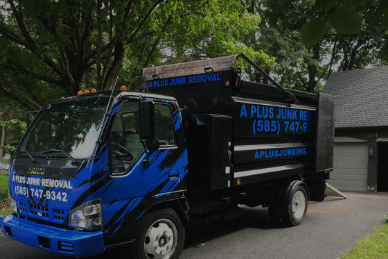 A Plus Junk Removal truck