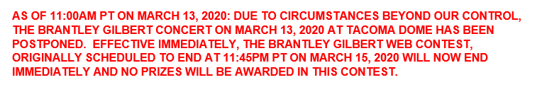 BRANTLEY WEB CONTEST CANCELLED