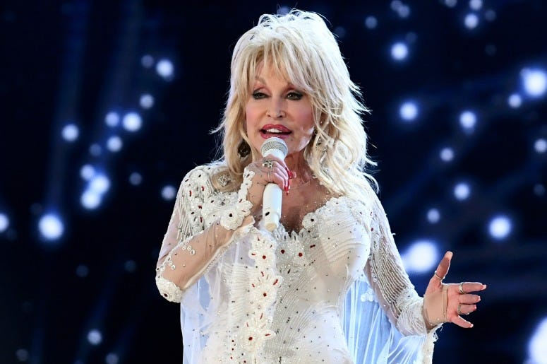 Dolly Parton at the 61st Annual GRAMMY Awards