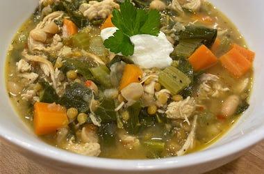 chicken collard greens soup