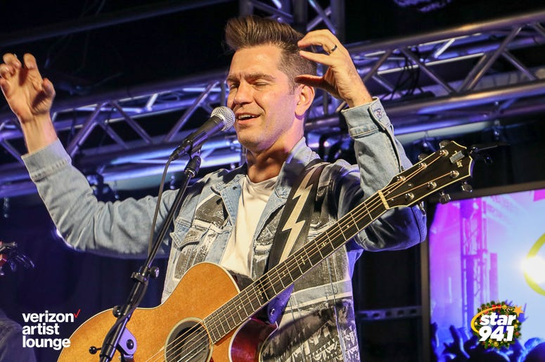 Andy Grammer performs at the first Star 94.1 - Verizon Artist Lounge!