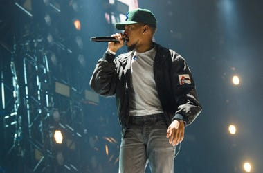 Chance the Rapper performing at BBC 1Xtra Live, at the O2 Arena in London