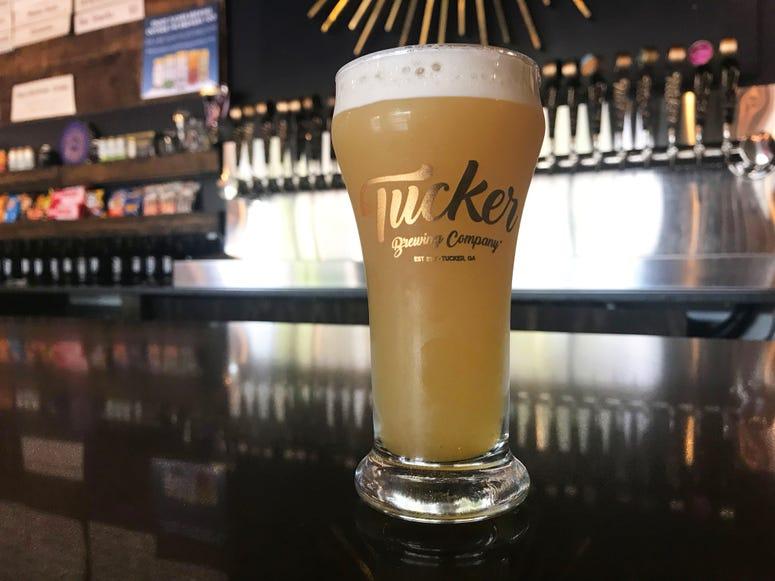 Draft Beer on Bar Malt Madness Tucker Brewing