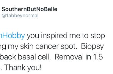 Jenn Skin Cancer Tweet