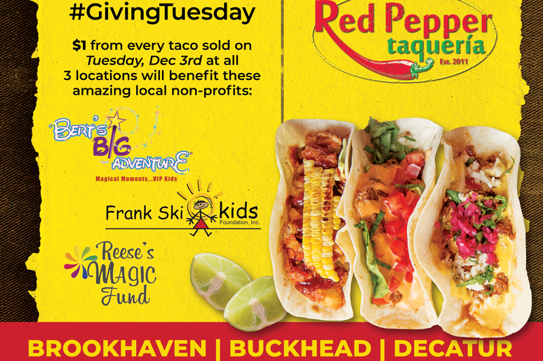 Giving Tuesday - Red Pepper Taqueria