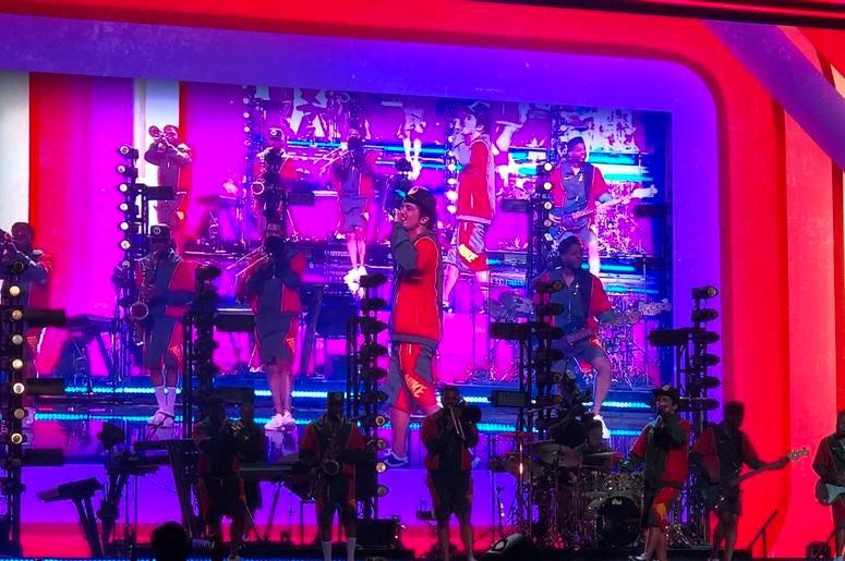 Bruno Mars and his 'hooligans'