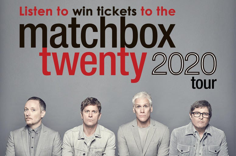 win matchbox twenty tickets
