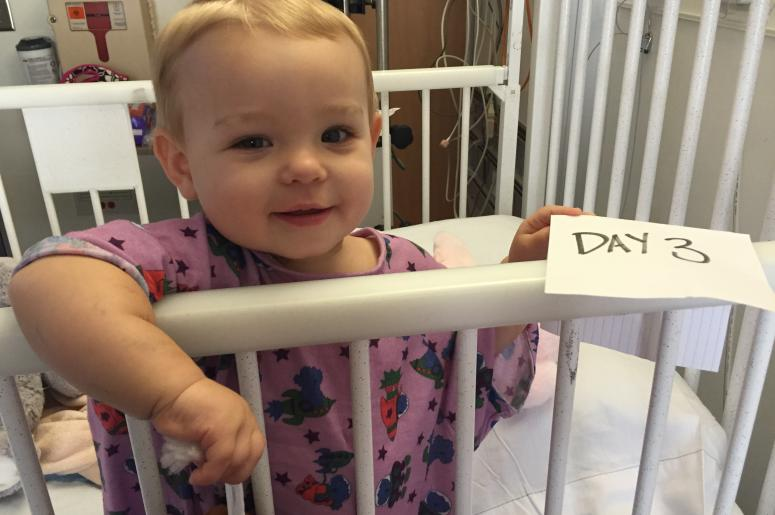 Reese in Crib