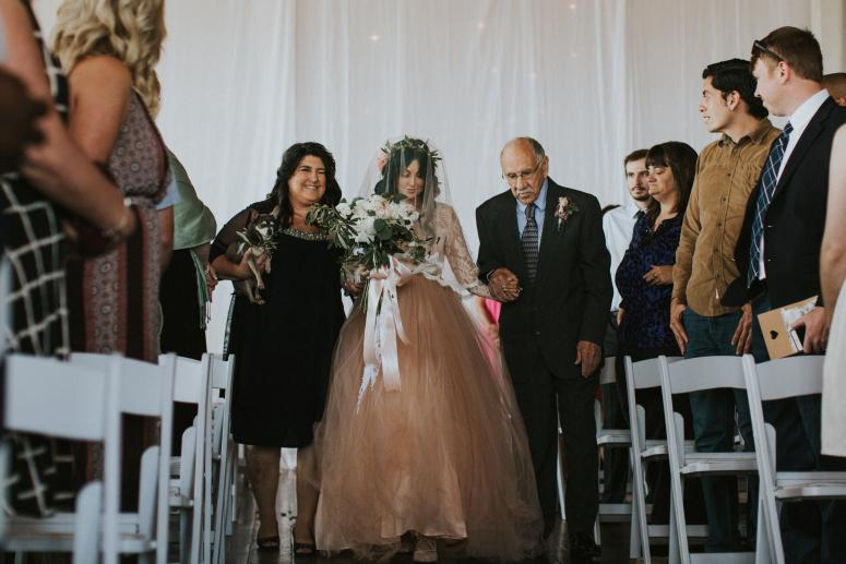 Jaquie Walking Down the Aisle