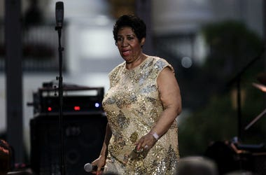 Herbie Hancock (unseen) and Aretha Franklin play at the International Jazz Day Concert on the South Lawn of the White House, in Washington, DC, April 29, 2016. US President Barack Obama delivers remarks to introduce the event.
