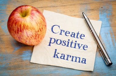 Picture telling us to create good Karma