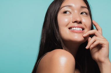 Woman with healthy skin