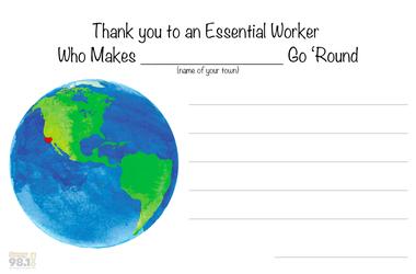 Essential Workers Postcard