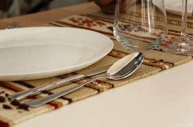 close up of silverware in table setting