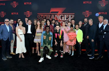 The cast of Netflix Show 'Stranger Things'