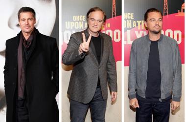 Brad Pitt, Quentin Tarantino, Leonardo DiCaprio