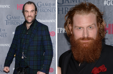 Actor Rory McCann attends the 'Game Of Thrones' Season 4 New York premiere at Avery Fisher Hall, Lincoln Center in New York / Kristofer Hivju (on right) attends the 'Game Of Thrones' Season 4 New York premiere at Avery Fisher Hall, Lincoln Center in New Y