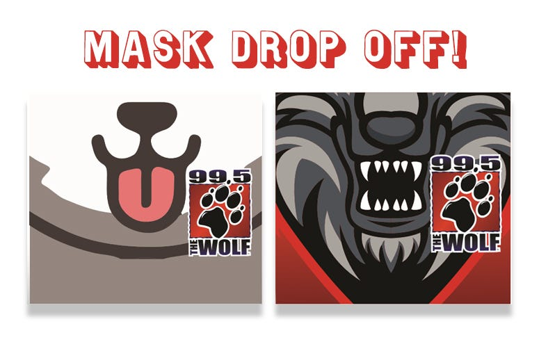 99.5 The Wolf, KWJJ-FM, cornavirus, Mask