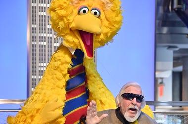 Sesame Street's Big Bird And Puppeteer Caroll Spinney