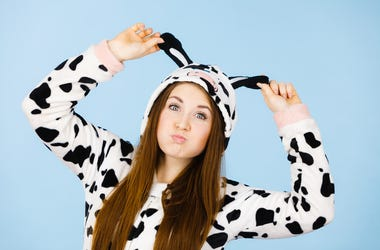 Girl in Cow Costume