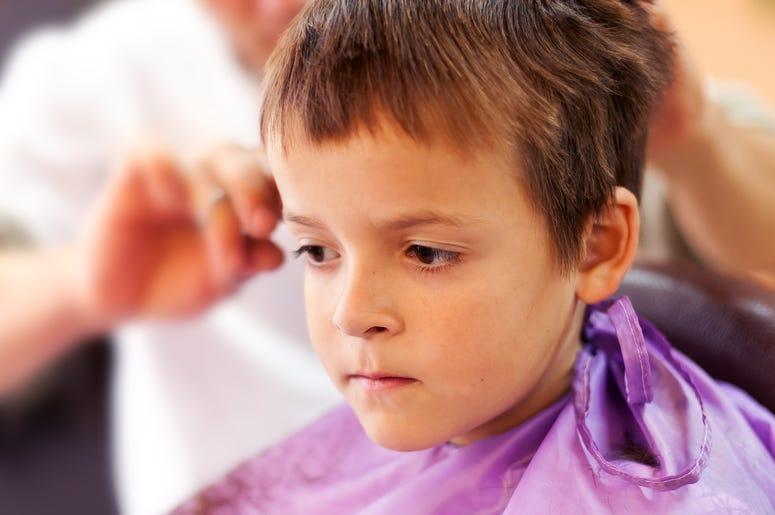 Kid at Barber