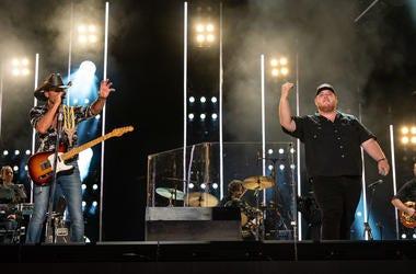 Tim McGraw and Luke Combs at CMA Fest