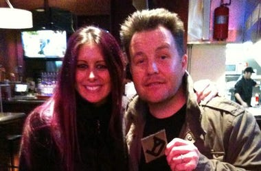 Mistress Carrie with Ken Casey of the Dropkick Murphy's
